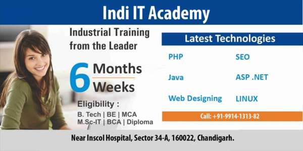 Join the industrial training in Chandigarh – Indi IT Academy