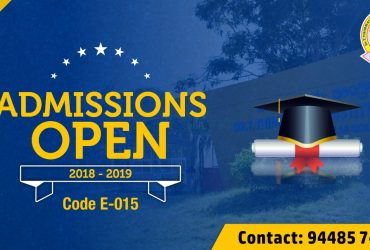 Engineering Admissions Open  2018 – 2019