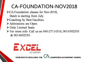 CA – Foundation Coaching by Best Faculties