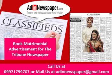 Book Matrimonial Advertisement in Chandigarh Newspapers