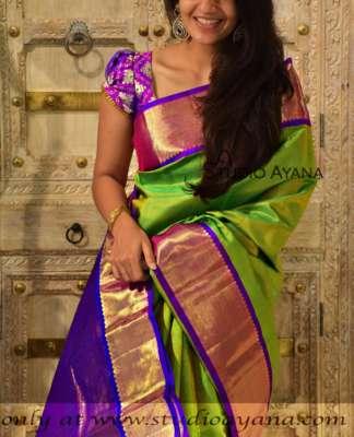 Buy Traditional Kanjivaram Wedding Silk Sarees | Studio Ayana