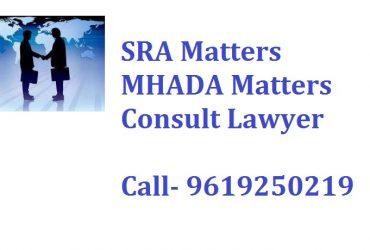 SRA, RERA and MHADA Room Document Lawyer Mumbai 9619250219