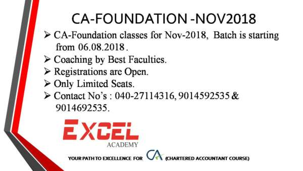 CA Foundation Coaching by Best Faculties