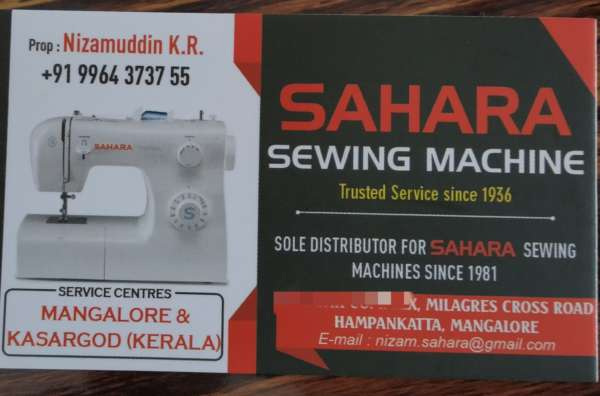 Sewing machine Mangalore-Singer, Merritt, Usha, SAHARA, Jack, Brother, Juki..