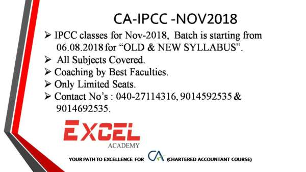 CA IPCC Coaching by Best Faculties