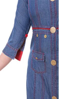 Heerva Women's Denim Cotton Kurti