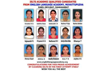 English language and IELTS Coaching Centre at Muvattupuzha