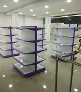 Manufacturer of Supermarket Shelves, Vegetable & Fruit Racks, Star rack, Round  Display rack-Kovai Rack