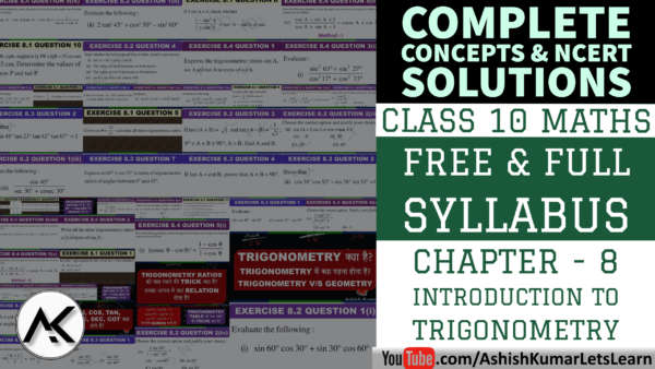 NCERT Solutions for Introduction to Trigonometry Class 10