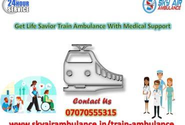 Select Sky Air/Train Ambulance Service in Delhi with MICU Facility