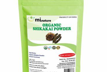 mi nature Organic Shikakai Powder with Resealable Zip Lock Pouch, 227 g