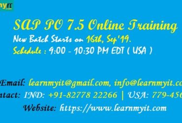 SAP PI / PO 7.5 Online Training by Certified Consultant – https://www.learnmyit.com
