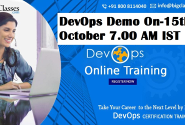 DevOps Demo Online Training On 15th October 7.00 AM IST