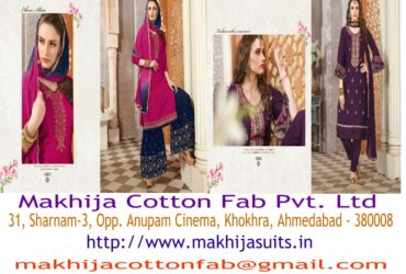 Fashionable Designer Suits and Dress Material Manufacturer in Ahmedabad   Makhija Suits