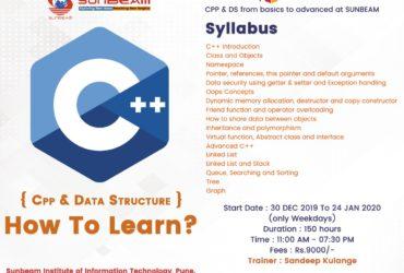 C++ and Data Structure Classes in Pune  SunBeam institute Pune