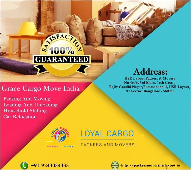 Your Best Movers And Packers Bangalore Hsr Layout