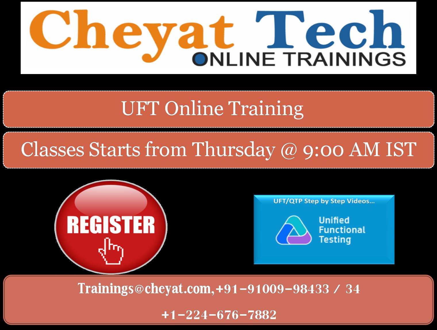 UFT Online Training   Cheyat Tech   QTP Online Training