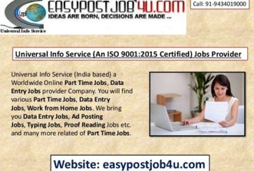 Best ONLINE jobs vacancy for 10+ to Graduation Pass Candidates, Monthly salary Rs.35,000/- Per Month, Free registration