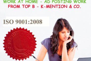 Simple Homebased ads posting work call 9898665104 – Surat