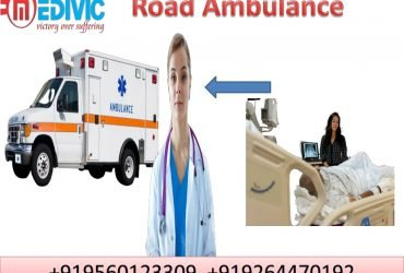 Pick Road Ambulance service in Patna by Medivic Ambulance with Medical Team