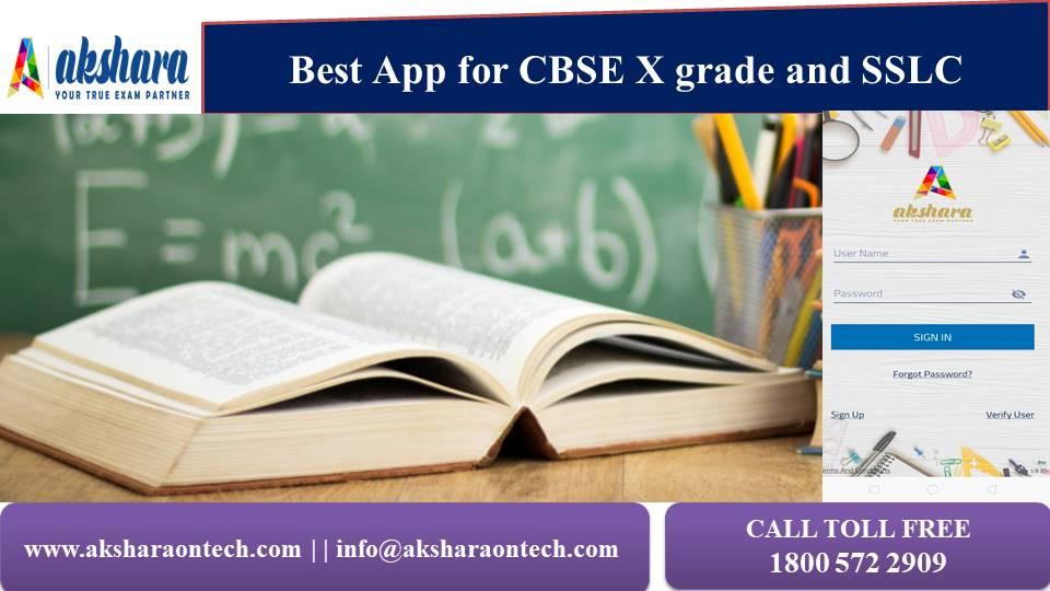 Best App for CBSE X and SSLC Exam Preparation | aksharaontech.com