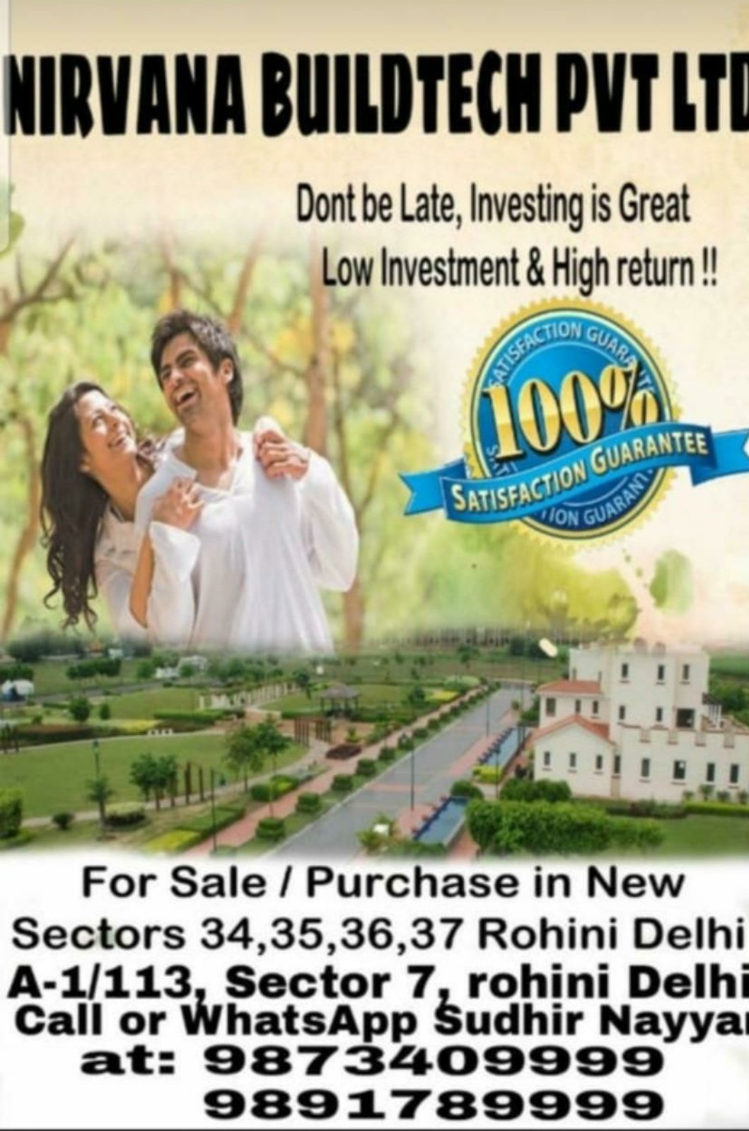 Purchase & Collaboration of all kinds of properties in DELHI – Nirvana Buildtech Pvt Ltd