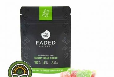 FADED CANNABIS CO. – GUMMY BEAR SOURS – 180MG THC