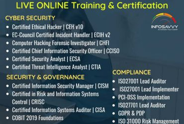 IT Management & Cyber security Live online Training & Certification   info-savvy.com