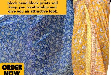 Block Print Sarong | shivalayajaipur.com