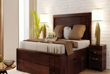Buy Wooden Double Bed Online in India at Affordable Price.