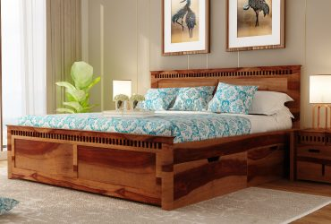 Buy wooden king size bed online @ Upto 55% OFF