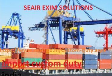 import custom duty india online