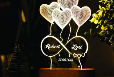 Artistic Gifts Personalized 3D Illusion Led Lamp Special for Anniversary