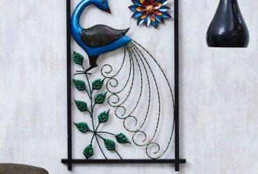 Collectible India Metal Peacock Wall