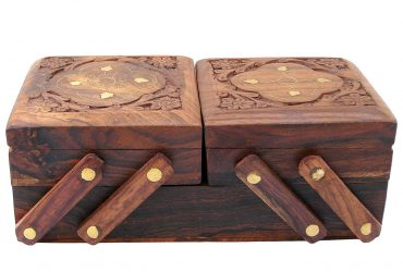 Private: Private: Jewellery Box for Women Wooden Flip Flap Flower Design Handmade Gift