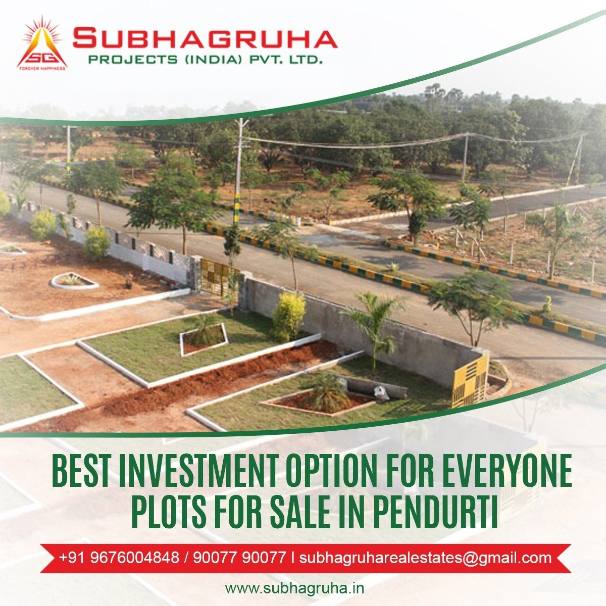 vuda approved plots in vizag  Subhagruha