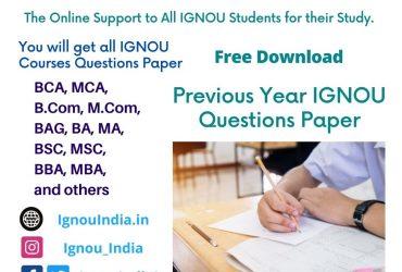 IGNOU Previous Questions Paper 2021