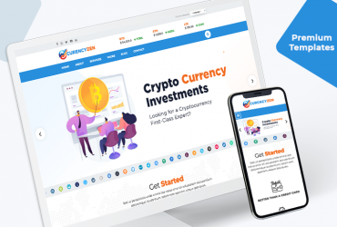 Premium Crypto Currency Website Template
